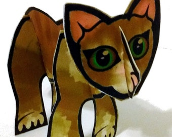 Ready-to-Play Ginger Cat - Printable Toy