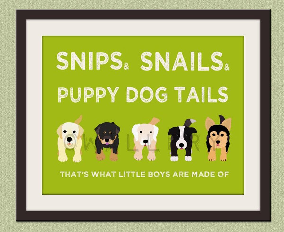 Nursery art print. Boys nursery wall art Puppy dog Thats what