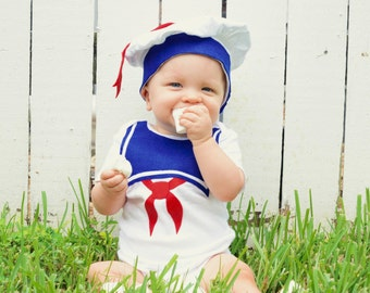 Fourth Of July, 4Th, Stay Puft Baby Costume / Toddler Halloween Costume, Kids Halloween Costume, Marshmallow Man, Ghost, Baby Geekery