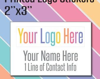 Thank You Stickers Custom - Custom Logo Stickers