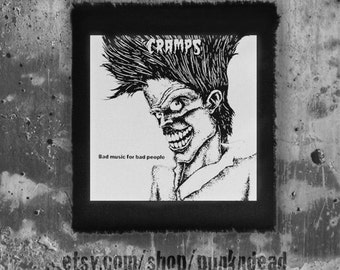 The Cramps patch • Retro • Horror • Rockabilly • punk patches •band patch • fabric • punk aufnäher • custom patches
