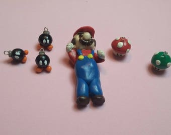 Polymer clay charms set