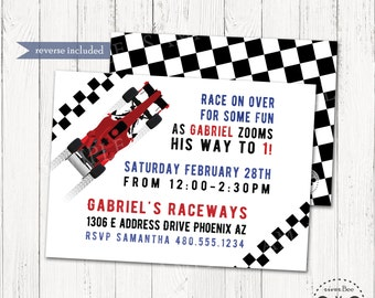 Nascar invitations etsy race car birthday invitation nascar party digital invite car birthday party boy birthday filmwisefo Choice Image