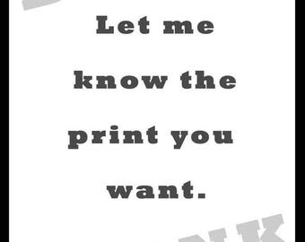 BLANK Canvas - Let me know the print you want.