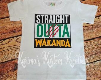 Straight Outta Wakanda, Panther Inspired, Straight Outta, Toddler Shirt, Kid Shirt, Adult Shirt