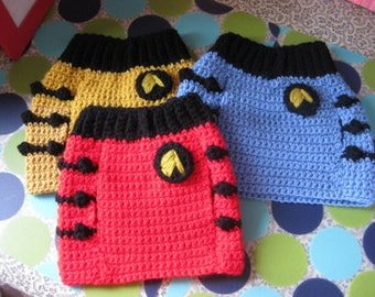 M or M+ Custom Star Trek Dog Sweater Vest - Made to Order for you