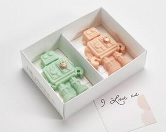 I Love Us Belgian Chocolate Robots gift