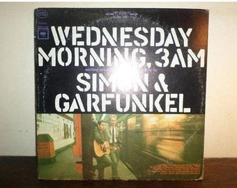 Vintage 1970 LP Record Simon and Garfunkel Wednesday Morning 3AM Very Good Condition 10525