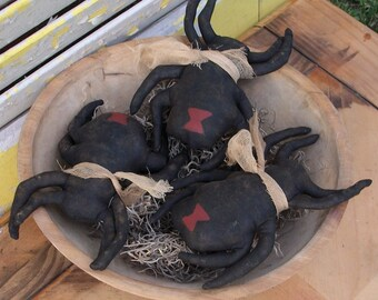 Primitive Black Widow Spider Bowl Fillers