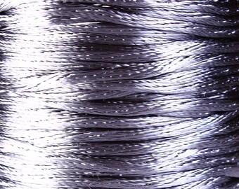 2mm grey nylon thread cord - 2mm gray nylon cord - 2mm grey thread - 10 feet (R020)