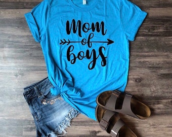 Mom Of Boys Shirt   Boy Mom   Mom Shirt   Mom Life   Mothers Day