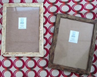 "Rustic/driftwood style frames in locally sourced,recycled wood in clear & medium dark beeswax finish.To fit 12""x16"",Free U.K. shipping"