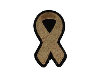 Peach Awareness Ribbon Patch for Endometrial Cancer, Uterine Cancer, Vaginal Cancer