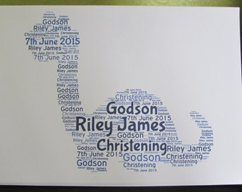 Personalised Word Art Greetings Card - Dinosaur - Birthday - Special Occasion - Thank You - Wedding - Anniversay