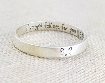 Personalized Pet -  Girlfriend Gift -  Personalized Ring -  Valentine Gift -  Cat Lover Gift - Silver  Ring - Pet Gift - Valentine's Day