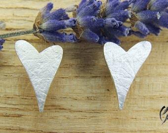 Earrings Silver 925 /-, heart