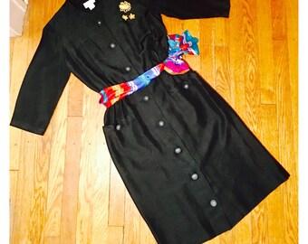 1960s Dress / Nelly Don / Little Black Dress / Vintage Dress
