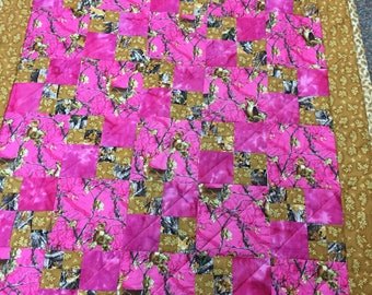 Pink camo quilt toddler size