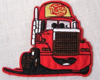 Patch embroidered patch Thermo * 8 x 9 cm * CARS red truck - Applique iron-on