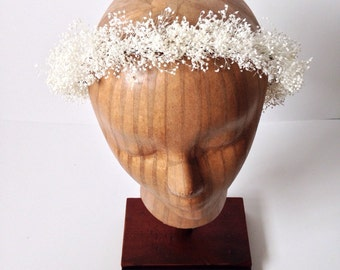 Gypsophelia Halo // Preserved Babies Breath Flower Crown