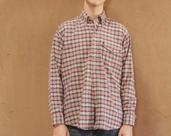 woolrich NIRVANA 90s plaid flannel mens vintage shirt