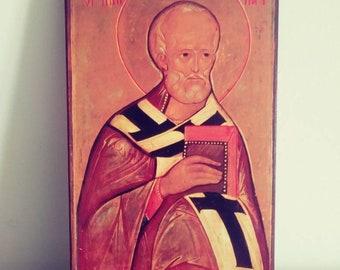 St Nicholas, Bishop of Myra in Lycia, narrow A4.