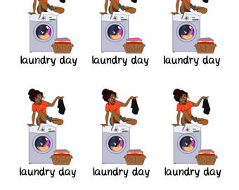 Laundry Day character stickers