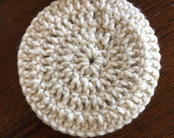 Set of 4 crocheted coasters