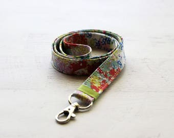 Colorful lanyard - cute lanyard - ID badge holder - paint splatter lanyard - artists lanyard - teachers lanyard - key fob lanyard
