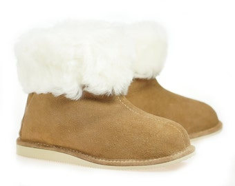 Mens Sheepskin Shearling Slippers Moccasin Boots for Men House Sheepskin Slippers Handmade Shoes 100% Wool Slippers ugg style Best