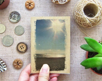 Sea Notebook 37 - Small Travel  Pocket Notebook - Sun, Sky, Sea and Sand - Mini Diary for Your Inspiration, The Beach