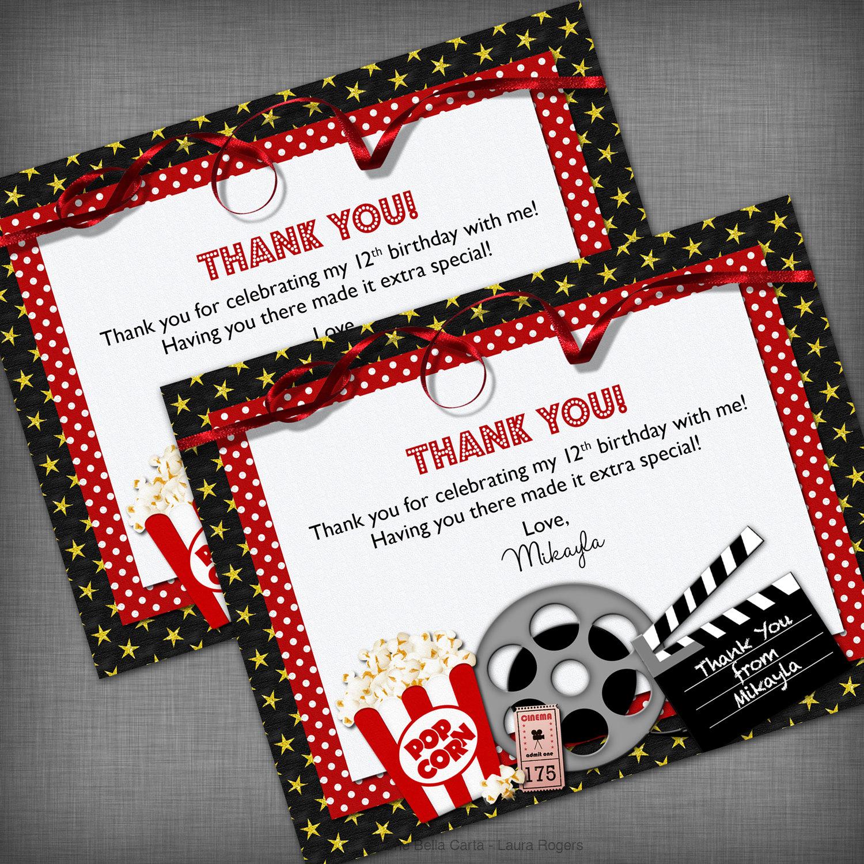 Movie Theme Thank You Card