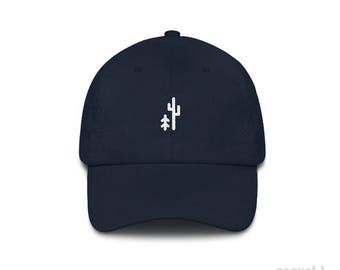 Tree x Cactus Dad Hat // Hiking Hat // Camping Hat