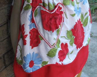 Vintage Handmade Reversible Apron