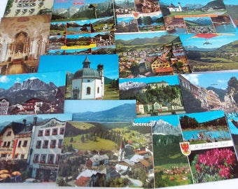 Postcards from Tyrol a historical region in the Alps; in northern Italy 44 vintage postcards.