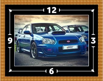 Subaru Impreza WRX STI Wall Clock Gift Present Christmas Birthday Car Turbo Rally Drift Racing (Can Be Personalised)