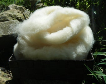East Fresian wool roving - 4 ounces