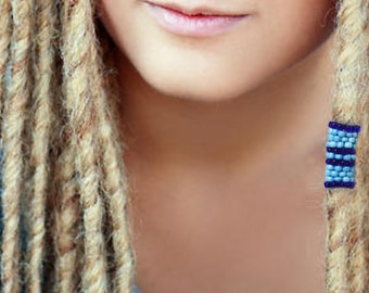 Dreadlock Bead - Blue - Dread Beads - Pick Your Size
