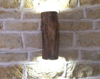 rustic wall light, rustic sconce, woodland style, log lamp, log light, wooden wall light, wall sconce, farmhouse, cottage light