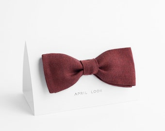 Cherry red bow tie - MADE TO ORDER