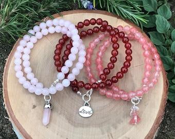 Beaded Wrap Bracelet || Valentines Day Gift || Boho Chic Bracelet || Gift for her
