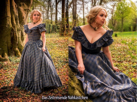 Victorianisches Ballkleid Krinolinenkleid Sissi-Kleid