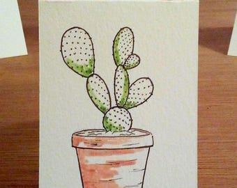 Potted Prickly Pear Notecard