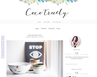 Blogger Template - Premade Blogger Templates - Blogspot - Responsive blogger Template - blogger Theme - COCO - Instant Download
