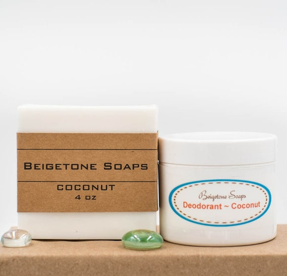 COCONUT PAIR - Soap Bar (4oz) with Deodorant Jar( 2oz) | Our Most POPULAR Scent!