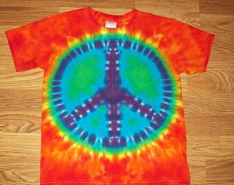 Peace Sign Tie Dye- XS S M L XL 2X 3X 4X 5X 6X- Kids Adult Plus Size Peace Sign Shirt