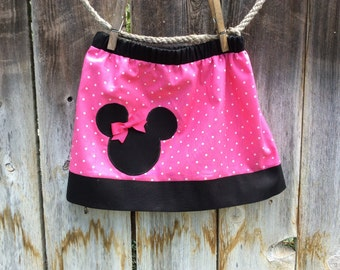 Minnie Mouse Skirt, Pink Minnie Mouse Skirt