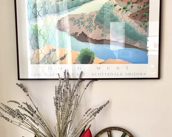 Doug West Chama Adagio Art Show Poster Print - Southwest, Limited Edition, Leslie Levy, New Mexico, Landscape, Excellent, Well Framed