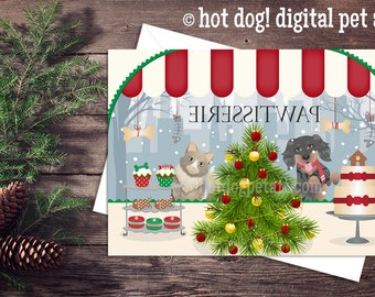 Pet Christmas Card - Holiday Pawtisserie