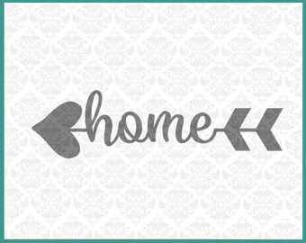 CLN057 Heart Arrow Monogram Words Family Home Love Circle SVG Ai EPS vector instant download commercial use cutting file cricut silhouette